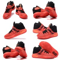 atomic snow - With shoes Box Kyrie Irving II Inferno Bright Crimson Atomic Orange Black Tie Dye Men Hot Sale Shoes