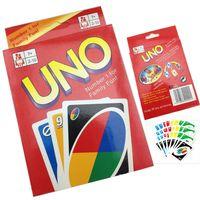 Wholesale UNO g Poker Card Standard Edition Family Fun Entermainment Board Game Kids Funny Puzzle Game UNO Card Board Games