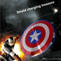 banco de la energía 10PCS CALIENTE 6800mAh sólido USB Dual Shell El Capitán América Vengadores Escudo rápido cargador portátil móvil de la carga de alimentación