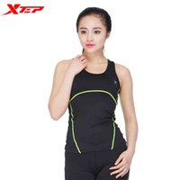 Wholesale Xtep Women s O Neck Breathable Fitness Boxing Vest Jerseys Female Patchwork Design Sleeveless Sports Clothing