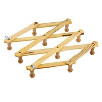 Wholesale Solid Wooden Hanger Expandable Wooden Coat Rack Hat Hook Expanding Fold NEW new arrival