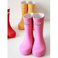 Wholesale DHL Free Hunter Rubber Boots For Kids Colors Pink Red Yellow