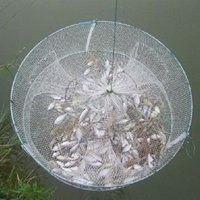 Wholesale 13 quot X13 quot Fishing Circular Trap Cast Net Crab Fish Minnow Green GBNG F00031