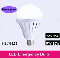 automatic charge control - 2016 New LED bulbs E27 Smart emergency Function bulb W W W W Automatic charging control start when power off working hours