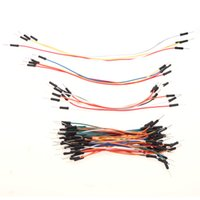 Wholesale 65pcs Jumper Wire Cables PCB Breadboard Wires Plug Bread Board Solderless Cable Tie Line Jump Jumper Line