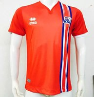 Wholesale 1 Iceland eruo Jersey home Blue Away White orange thai quality Iceland football shirt soccer jersey