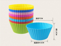Wholesale 1000pcs Cupcake Liners Mold CM Colors Muffin Round Silicone Cup Cake Tool Bakeware Baking Pastry Tools Kitchen Gadgets Ukraine