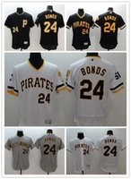 Wholesale Mens Pittsburghs Pirates Barry Bonds Jersey New FLEXBASE Black Home Road Throwback Stitched Baseball Jersey Size