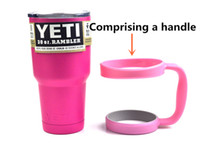 Wholesale 1 piece Pink Yeti with handle Coolers Cup Bilayer YETI Rambler Tumbler Car Beer Mug oz Insulation Cups Large Capacity Water Bottle