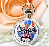 beijing watch - price good quality Beijing Peking Opera Make ups pattern quartz pocket watches necklace women children the best gift