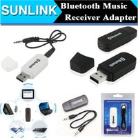 Wholesale Bluetooth USB A2DP Adapter Dongle Blutooth Music Audio Receiver Wireless Stereo mm Jack for Car AUX Android IOS Mobile Phone AP43