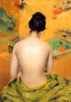 Cheap Mysterious Oriental Female Image Half-naked Back Unframed Paintings Nude Women Art Photo Japanese Canvas Home Sofa Living Room Wall Decor