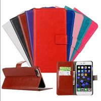 Wholesale For iPhone iPhone plus Wallet Leather Flip Case Hybrid Back Cover DHL