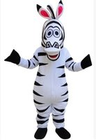 Wholesale Super Quality Madagascar Zebra Marty Mascot Costume Halloween Party Real Pictures Cartoon Mascot Costume