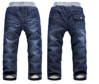 Wholesale Winter Thick Warm Cashmere Pants Kids Baby Brand Children s Trousers Boy s Denim Jeans High Quality Children Clothing