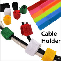 Wholesale Wire cable Organizer Strap Wire cable Holder clip cable tie hook Loop colorful