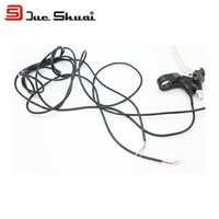 bicycle cable guides - Electric Bicycle Brake Levers cm Wire Length Silvery Electric Bike Normal Cable Sets MTB Disc Brake Rotor Wheel Guide Deore