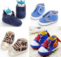 baby corduroy fabric - INS blue corduroy cloth cartoon fox head baby soft bottom toddler shoes Superman pattern canvas boy staggers shoes girl baby CL