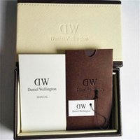 Wholesale Luxury Brand DW Watch Original Retail Box With Manual Tag Tool Watch Boxes DW Watch Cases Paper Handbag