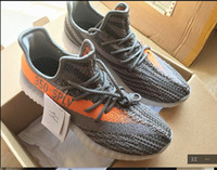 Wholesale SPLY Boost Orange Stripe Season Kanye West Boosts Y350 Boost Black Translucent sneakers Men s Fashion SPLY Shoes