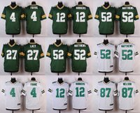 aaron grey - football jerseys Brett Favre Aaron Rodgers Eddie Lacy Clay Matthews Jordy Nelson elite Stitched jerseys White blue