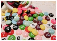 bean bags free shipping - pieces per bag colorful m bean cabochon phone case decoration jewelly DIY accessories resin flat backs
