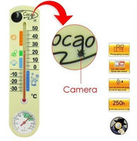 Wholesale Motion detection Thermometer hidden mini Camera Video Cam DVR Surveillance with GB