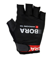 Wholesale BORA ARGON PRO TEAM BLACK Cycling Bike Gloves Bicycle Gel Half Finger Glove