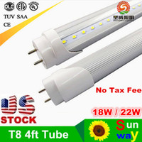 bar bulb - FT LED Tube Bar Lights T8 mm Tubes Bulbs Super Bright W LED Flourescent Bulb Light AC110V V V Tube Lamp