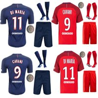 Wholesale 16 PSG the full set soccer jersey with socks CAVANI DI MARIA VERRATTI home and away football jersey with socks with patches