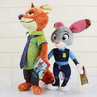 Zootopia Film Zootopia jouets en peluche 22cm Nick Wilde et 33cm Judy Hopps Fox Lapin en peluche Cartoon Poupées meilleur cadeau mignon Jouets en peluche