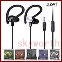 Precio de El bajo piso-gancho del oído de los auriculares universales con música auricular deportes micrófono bajo fuerte JY-A1 en-oído para el iphone cable plano de teléfono móvil MP3 de Samsung