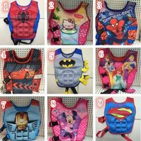 baby swimming jacket - 100pcs styles Baby Life Jacket Vest Batman Superman Spiderman Princess KT Mickey Drifting Vest Catoon Kids Life Vest Rafting Life Jackets