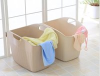 Wholesale Large soft plastic laundry basket basket of washing dirty clothes instoragebarrels storage basket with a storage basket