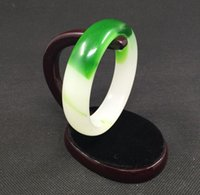 chinese jade jewelry - Details about Green white Chinese Jade Jadeite Jewelry Women Bracelet Bangle