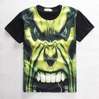 animate animated shorts - Stereoscopic D Printed T Shirt Slim Skull Diffuse Wei Hulk Animated cartoon T Shirt Casual Hort Sleeved Personality Cotton Man D T Shirt
