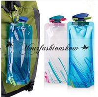 bags pothook - DHL Fedex Free New Water Bag ML Portable Folding Sports Water Bag Outdoor Climbing Foldable Sports Water Bottle With Pothook M213