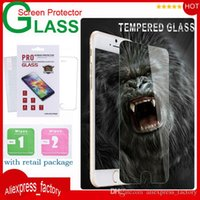 Wholesale 9H Tempered Glass Premium Screen Protector Film Guard For iPhone S Plus SE S S Samsung S7 S6 edge Plus Note With Ratail Package