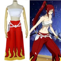 Wholesale Japanese Anime Fairy Tail Erza Scarlet Cosplay Costume Women