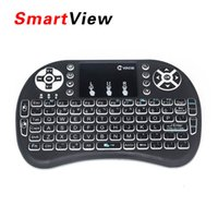 Wholesale VONTAR i8 Mini Wireless Backlight Keyboard GHz Air Mouse Gaming Handheld Touchpad for X96 T95X MXQ Pro i68 Mini M8S TV BOX