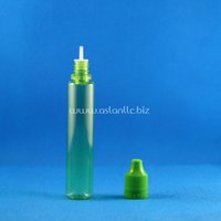 acid green - 100 Sets ml UNICORN GREEN Plastic Dropper Bottles Child Resistant Tamper Proof Long Thin Tip e Liquid Vapor Juice e Liquide ml