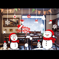 Wholesale 2016 Christmas Decoration For The Prouct f Window Stickers Glass Door Window Stickers