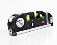 Wholesale 2016 Popular Multipurpose Level Laser Horizon Vertical Measure Tape Aligner Bubbles Ruler FT