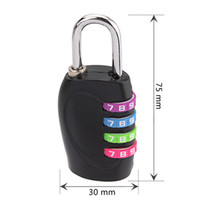 Wholesale 10Pcs Alloy digits adjustable combination padlock Drawer cabinet suitcase backpack zipper pull rod box Coded padlock