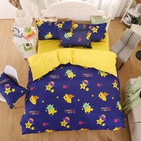 beds solid wood - MIFE Newly Cartoon Bedding Lovely Wood Man Printing Duvet Cover Bedding Set Bed Sheet Duvet Cover Pillowcases
