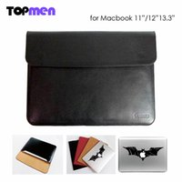 Wholesale Sleeve Bag Case Notebook Cover for Macbook Air Pro Retina Ultrabook Laptop PU Leather Tablet PC Anti scratch Sticker