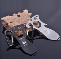 stainless steel spoon - New outdoor camping tools brother opener of the stainless steel spoon multi functional outdoor tools Mountaineering buckle crkt