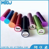 Wholesale Cell Phone Mini Power Bank Lipstick Cylinder Power Bank Mobile Phone Power Bank Aluminium Alloy Material M L2