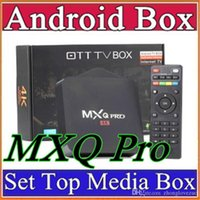 Wholesale MXQ Pro Android TV Box Amlogic S905 Chipset Kodi Full Loaded Android Quad Core G G K Google Streaming Media Players D TH