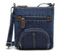 bag fasteners - Women casual bags front pocket Classic blue denim handbag shoulder diagonal handbag handbag fastener handbag fastener